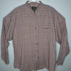 J Crew Cotton Wool Plaid Button Front Shirt